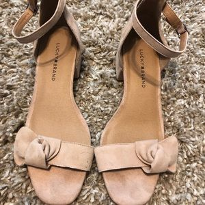 Lucky Brand Low Block Heel Sandals